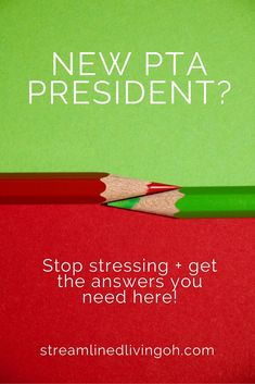 New PTA President or Officer? Stop stressing and get organized for a well-planner and fantastic year! Straight answers on how to run your PTA with no drama and lots of fun! http://streamlinedlivingoh.com/how-to-get-your-pta-pto-organized/