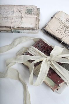 ZsaZsa Bellagio: Livin' the Glamorous Life old book and letters with satin ribbon.