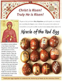 Orthodox Christians dye their eggs red at Easter...this is why.