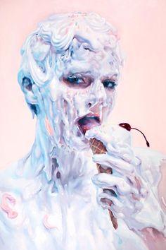 It's Not Milk – Les étranges portraits dégoulinants d'Ivan Alifan