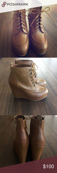 "Lace up,wedge ankle boots! Super cool""Deena & Ozzy"" boots in amazing,like new condition!(wore once!) Urban Outfitters Shoes Ankle Boots & Booties"