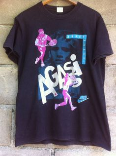 d24438324fcf Nike Vintage Nike 90s Andre Agassi Made in Usa Tennis Street Style Swag  Streetwear Hip Hop