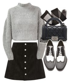 """Untitled #18885"" by florencia95 ❤ liked on Polyvore featuring AG Adriano Goldschmied, Chanel and Alexander Wang"