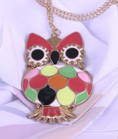 Necklace with charm Owl unique necklace for от Spillikinsbijou