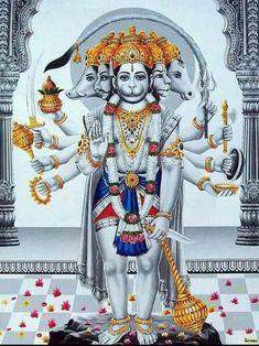 Panchmukhi Hanuman (With images) Hanuman Jayanthi, Hanuman Photos, Hanuman Images, Durga Maa, Hanuman Ji Wallpapers, Lord Vishnu Wallpapers, Shri Ram Photo, Shiva Hindu, Hindu Deities