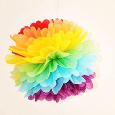Love wins! http://de.dawanda.com/product/63362391-regenbogen-pompom30cm-regenbogenflagge