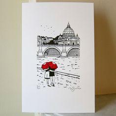 Rome Love gocco art print.