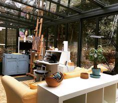 My sunroom art studio