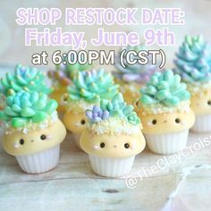 ⭐***SHOP UPDATE***⭐ My store will be reopened THIS FRIDAY, June 9th at 6pm central time! I will have all kinds of charms listed such as: Succulent cupcakes, gumball and pastel gumball machine cupcakes, Pusheen unicorn cupcakes, blueberry cupcakes, octopus charms, ice cream themed cupcakes, little piggy charms, Succulent necklaces, and a bunch of new designs that I will be showing y'all within the next few days! ❤ #polymerclay #claycharms #clay #charms #jewelry #food #foodie #kawaiifood…