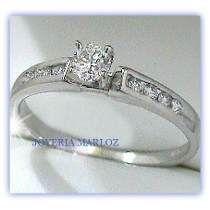 Anillos Comprmiso Diamante Natural .16ct Gh-vs