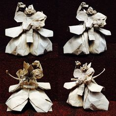 Amazing Origami Models from Japanese Culture and Mythology Origami Artist, Japanese Mythology, Origami Models, Japanese Culture, Burlap Wreath, Angles, Amazing, People, Photos
