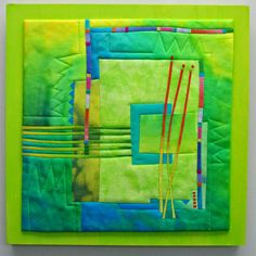 Melody Johnson: Lemon and Lime Bright Quilts, Colorful Quilts, Small Quilts, Mini Quilts, Quilt Modernen, Green Quilt, Textile Fiber Art, Foundation Paper Piecing, Patchwork Quilting