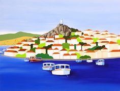 The Clock Tower, Poros by Shirley Netherton