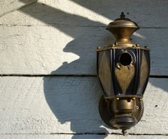 Recycled Bird Houses | Recycled Light Fixtures