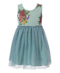 http://www.zulily.com/invite/vhanson979 Love this Blue Floral Babydoll Dress on #zulily! #zulilyfinds