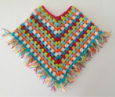 Sooz In The Shed...: Fringed Baby Poncho - free tutorial