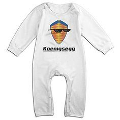 Dara Sunglass With Koenigsegg Car Logo NewBorn Long Sleeve Romper Bodysuit Outfits White 24 Months *** You can get more details by clicking on the image.