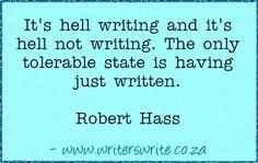 Quotable - Robert Hass - Writers Write Creative Blog
