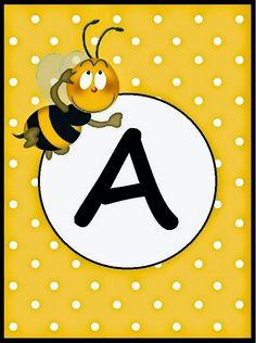 BulutsMom: Arı Temalı Doğum Günü Banner Harfleri Honey Bee Kids, Work Baby Showers, Bee Pictures, School Clipart, Bee Party, Bee Theme, Alphabet And Numbers, Kids Education, Preschool Activities