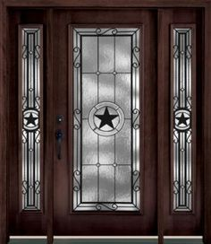 Texas Lone Star iron door aaleadedglasscom Rustic Home Decor