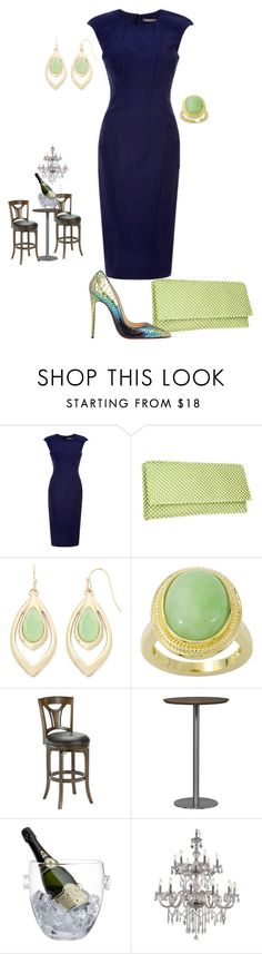 """""""It's party time"""" by andrea-barbara-raemy on Polyvore featuring Mode, Zac Posen, Nina, Liz Claiborne, Hillsdale Furniture, Crate and Barrel, Trans Globe Lighting und Christian Louboutin"""