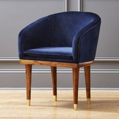 Ready to linger over good wine and great friends, our retro chic chair is stunning in its elegant simplicity. Blue Velvet Dining Chairs, Modern Dining Chairs, Dining Room Chairs, Kitchen Chairs, White Chairs, Ikea Chairs, Find Furniture, Home Furniture, Modern Furniture