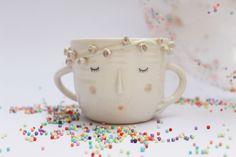roses in hair porcelain mug