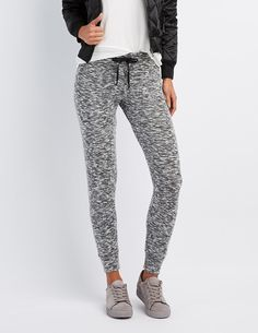 *CHARLOTTE RUSSE || Brushed hacci jogger pants | Pantalones jogger