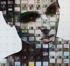 Nick Gentry se inspira en el impacto sociológico de una cultura nueva Internet.   Sus retratos utilizan una combinación de formatos de medios de comunicación obsoletos, hacer un comentario sobre la cultura de residuos, ciclos de vida e identidad. El uso de discos como un lienzo, estos artefactos se combinan para crear foto-única e identidades que pueden abastecerse las conexiones a la información personal que luego es bloqueado para siempre por debajo de la pintura