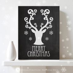 """Printable Christmas Decor Poster Print Merry Christmas  by AmeliyCom on Etsy, $5.00  NSTANT DOWNLOAD Printable Christmas Decor Poster Print - """"Merry Christmas"""" Art Print Chalkboard Decoration - DIY Wall Decor for Holiday Decoration. Christmas Gift  ---------- CHRISTMAS GIGT IDEA! ----------  You can print, then put it in a frame and make the perfect Christmas Gift for your loved ones, family, coworkers or friends!  Decorate your home or office - Just print and ready to go!"""