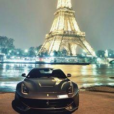 Oh la la - awesome pic of the Ferrari F12 in Paris