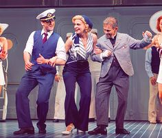 "Colin Donnell, Sutton Foster and Joel Grey in ""Anything Goes"" (2011) - Sutton Foster is perfect."