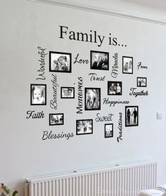 Wall Art Designs: Family Wall Art Artwork Mural Paintings Family Wall Art Quote Collage Awesome Photos On Framed Bordered Love Trust Faith Memories Creative Decor Stickers, Family Wall Art Home Ideas Wall Decor Family Wall Decor Family Wall Decal Gallery Wall Frames, Frames On Wall, Framed Wall Art, Vinyl Frames, Wall Decals, Mural Wall, Wood Frames, Family Tree Mural, Family Wall Decor