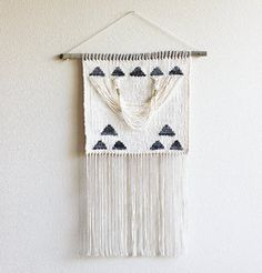 Gold Triangles Draped Woven Wall Hanging