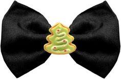 6bb3634d22d7 Christmas Tree Chipper Black Pet Bow Tie Dog Barking, Dog Memorial, Christmas  Tree Bows