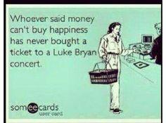 Luke bryan concert ecards