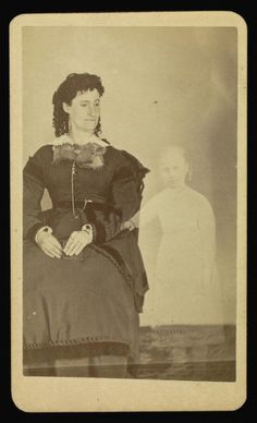 William H. Mumler (photographer) [American, 1832 - 1884], Mrs. Tinkman, American, 1862 - 1875, Albumen silver, Image: 9.5 x 5.7 cm (3 3/4 x 2 1/4 in.), 84.XD.760.1.7.
