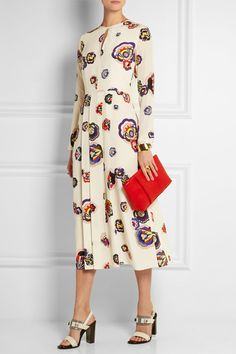 MSGM | Printed silk dress | NET-A-PORTER.COM
