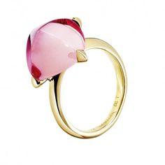 Bague Médicis XS vermeil et cristal rose miroir