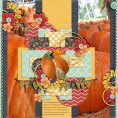 Pumpkins | M&M Designs: DSD Speed Scrap; Ponytails Designs: Crisp Autumn; Wendy Tunison Designs: Me and My Shadow