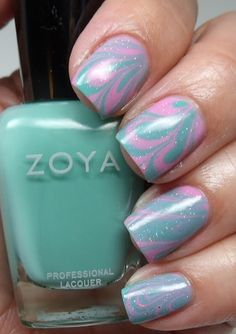 Colores de Carol: Water Marble, Wednesday and Shelby