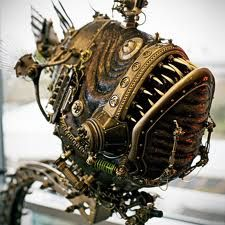 capricious steampunk bookends. Another awesome steampunk fish  horse head Steampunk Pinterest Horse