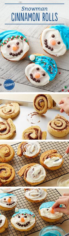 These kid-friendly Snowman Cinnamon Rolls are almost too cute to eat! Bring the magic of snowman-building indoors with these five-ingredient cinnamon rolls that are perfect for holidays, snow days and Saturdays. Making these for Christmas? Make your snowman rolls even more festive, and use red or green food color instead of blue for the hats. Expert tip: If desired, use miniature chocolate chips instead of M&M's™ Minis™ chocolate candies. Or use both!