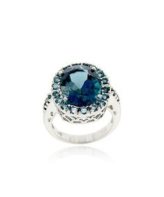 Take a look at this London Blue Topaz & Sterling Silver Cocktail Ring by Designs by FMC on #zulily today!