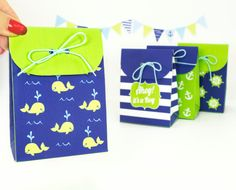 Nautical Boy's Baby Shower Favor Bags by LittleLuxuriesLoft