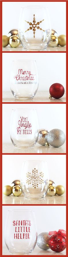 Must Have these Christmas Wine Glasses at our party!
