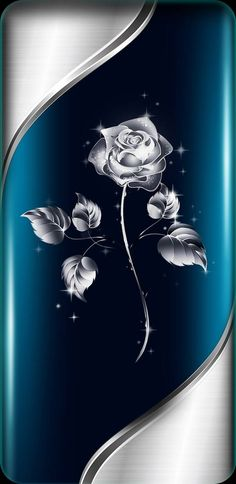 Silver Rose wallpaper by NikkiFrohloff - - Free on ZEDGE™ Silver Rose Wallpaper, Royal Wallpaper, Bling Wallpaper, Phone Wallpaper Design, Cute Wallpaper Backgrounds, Love Wallpaper, Cellphone Wallpaper, Colorful Wallpaper, Galaxy Wallpaper
