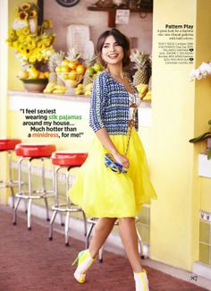 Alejandra Espinoza by Cosmopolitan for Latinas Magazine, March 2014. One of my fashion role models!