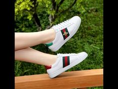 3741b14caaf GUCCI ACE EMBROIDERED WHITE SNEAKERS WITH BEE REVIEW FROM sneakeronfire.us!!