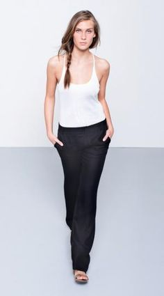 :: FASHION :: can't wait till summer. Obakki - BROGAN PANT Details:  Wide leg trouser in drapey twill viscose. Product Code #111-03-2213-813 90% Viscose, 10% Silk $300.00 #fashion